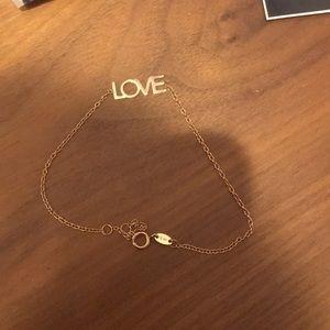 Maya Brenner Designs small rose/gold love bracelet